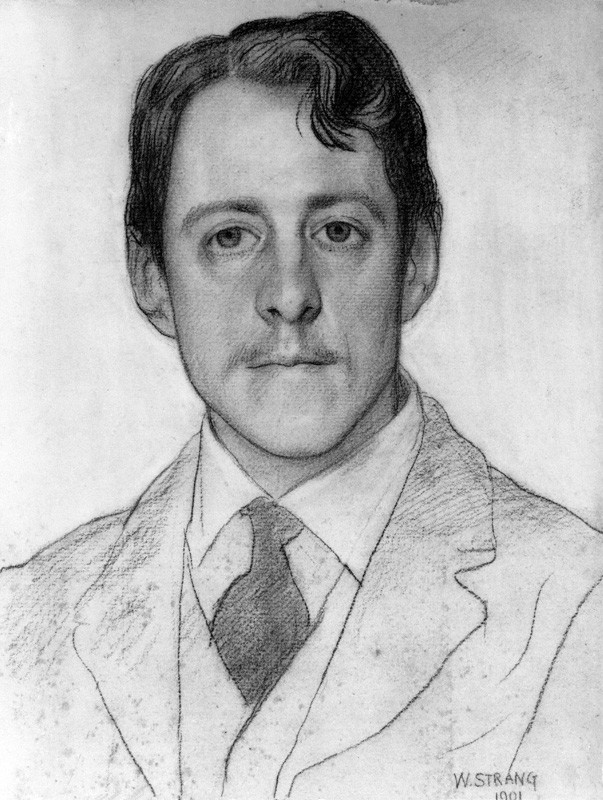 NPG 3185; Laurence Binyon by William Strang
